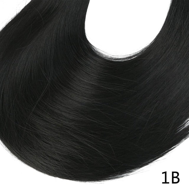 Synthetic ponytail hair extensions Jet Black / 24inches