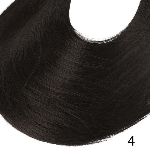 Synthetic ponytail hair extensions Black Brown / 24inches