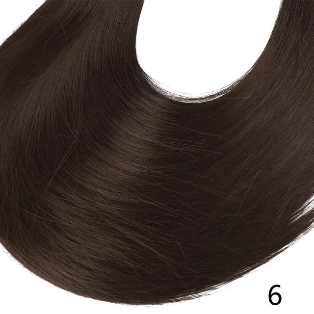 Synthetic ponytail hair extensions Dark Brown / 24inches