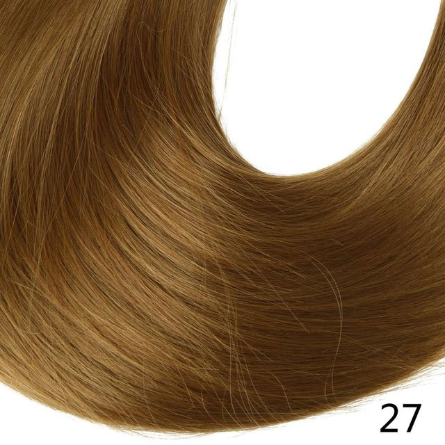 Synthetic ponytail hair extensions Golden Auburn / 24inches