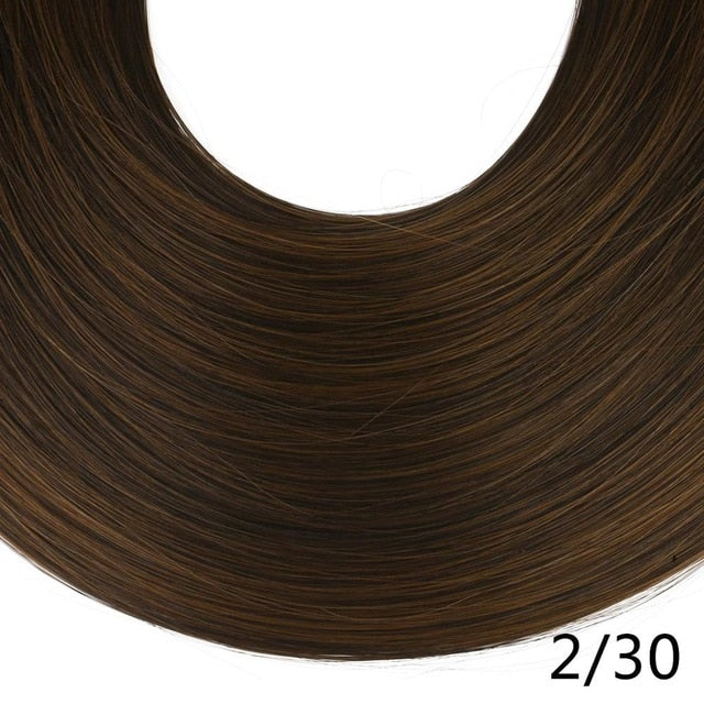 Synthetic ponytail hair extensions Ginger Brown / 24inches