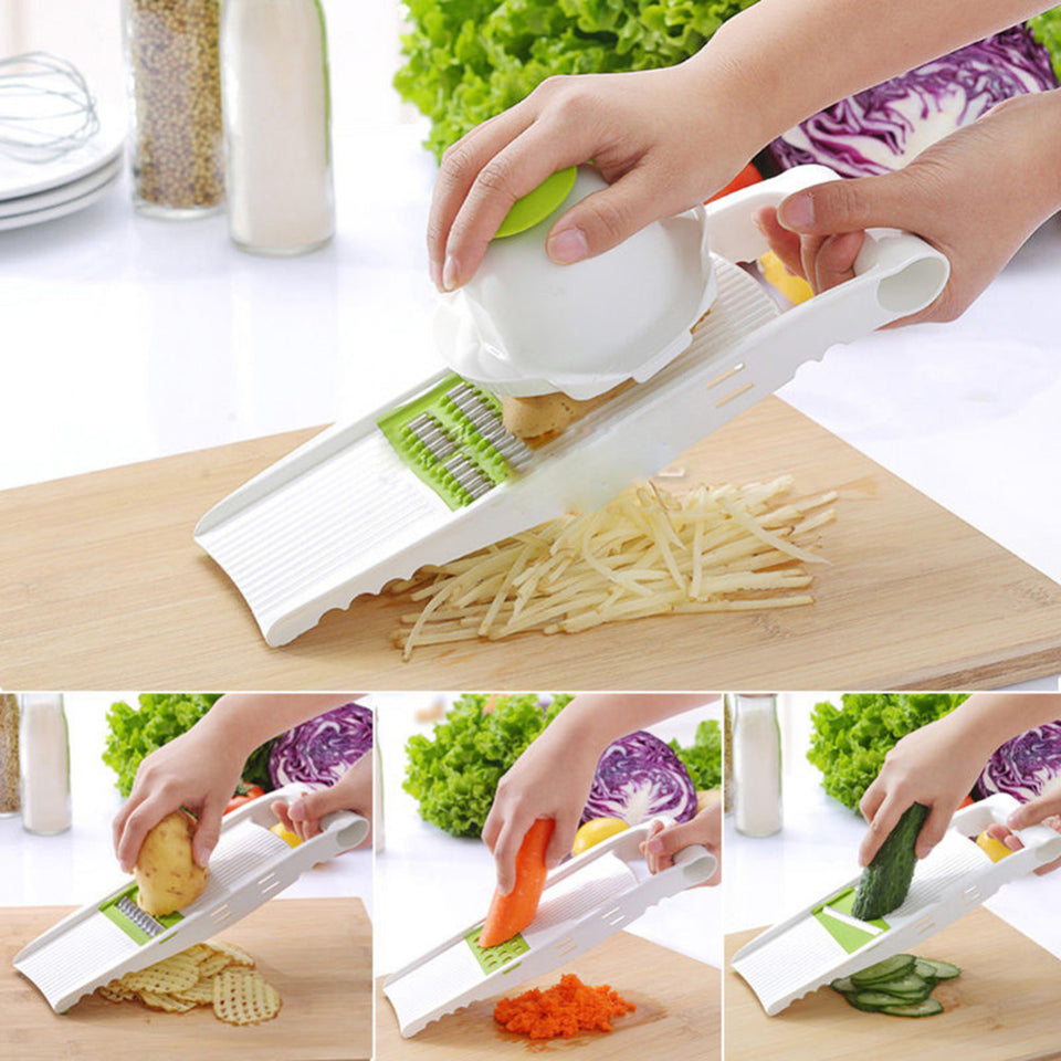 5 in 1 Stainless Steel Blade Vegetables Cutter