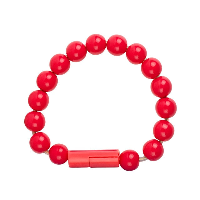 USB Charging Bracelet for iPhone / Red