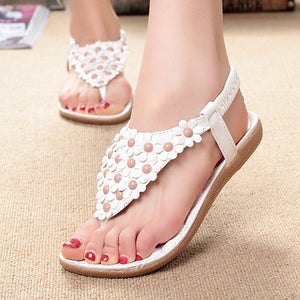 Women Bling Summer Sandals White 2 / 6