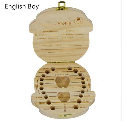 Baby Tooth Box English Boy