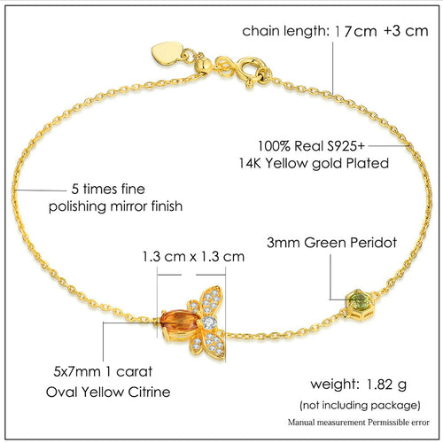 Queen bee citrine bracelet