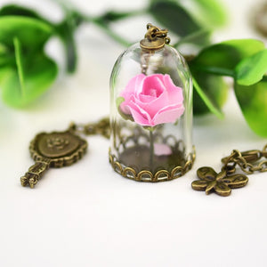 Beauty and the Beast Necklace pink