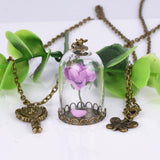 Beauty and the Beast Necklace purple