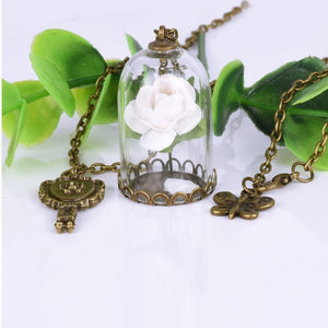 Beauty and the Beast Necklace white