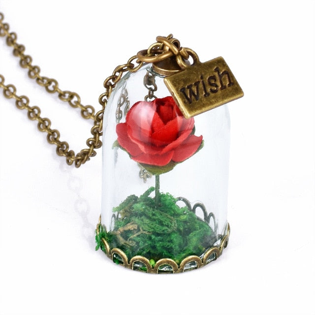 Beauty and the Beast Necklace wish