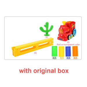 AUTOMATIC DOMINO BRICK LAYING TOY TRAIN With original Box
