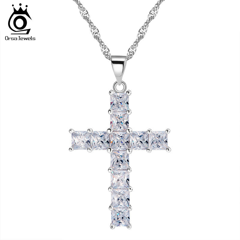 Luxury Cross Pendant Necklace