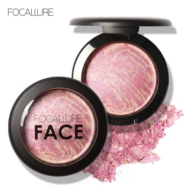 FOCALLURE Natural Face Pressed Blush Powder