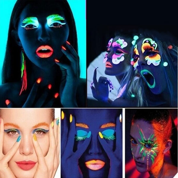 Glow in the dark face and body paint