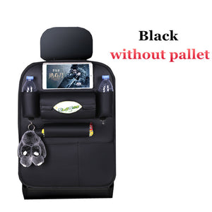 High Quality PU Leather Car Seat Back Organizer black without pallet