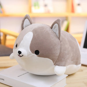 Squishy Corgi Plush Pillow 30CM / Gray