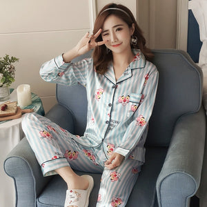 Silk Winter Pajamas C Q 368 lan / M
