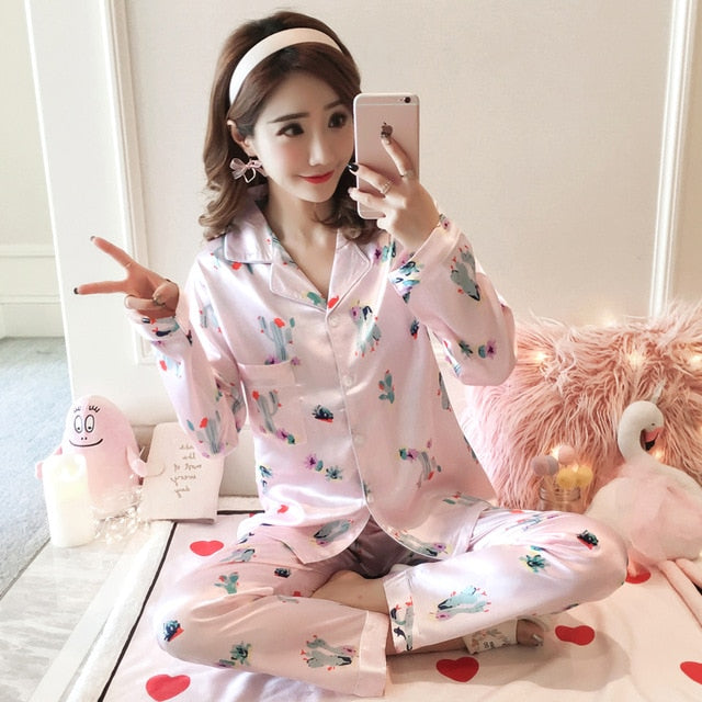 Silk Winter Pajamas C Q 366 / M