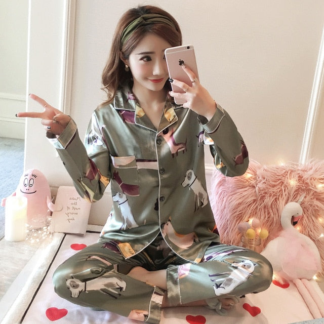 Silk Winter Pajamas C Q 367 / M
