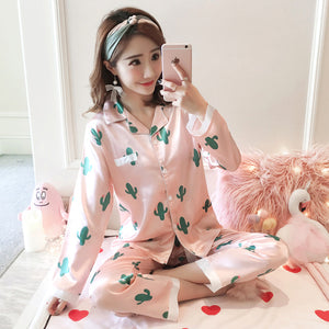 Silk Winter Pajamas C Q 362 fen / M