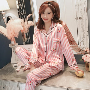 Silk Winter Pajamas C Q 368 fen / M