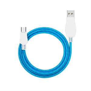 Cool Night Glow USB Charger Cable For Android / Blue