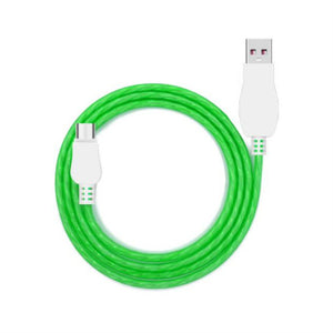 Cool Night Glow USB Charger Cable For Android / Green