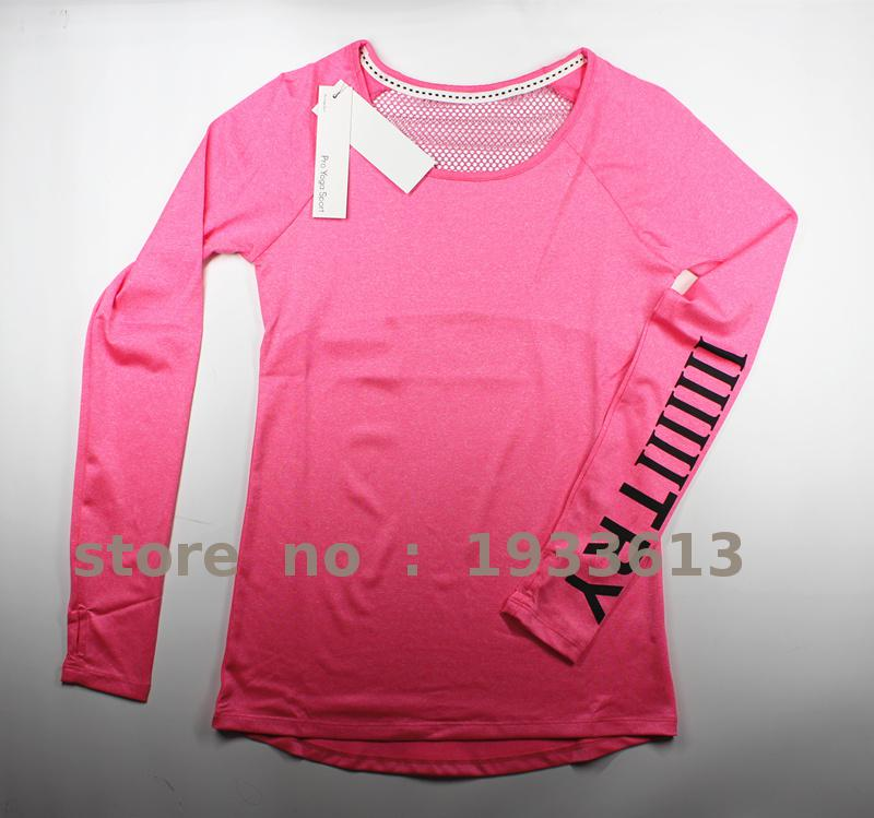 Long sleeve yoga top