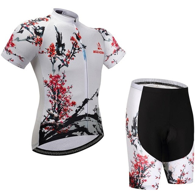 Ladies Cycling Clothing Sets Silver / XXL