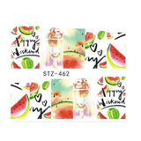 Strawberry Summer Water Transfer Nail Art STZ462