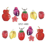 Strawberry Summer Water Transfer Nail Art STZ480