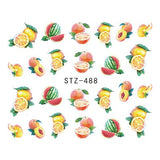 Strawberry Summer Water Transfer Nail Art STZ488