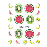 Strawberry Summer Water Transfer Nail Art STZ493