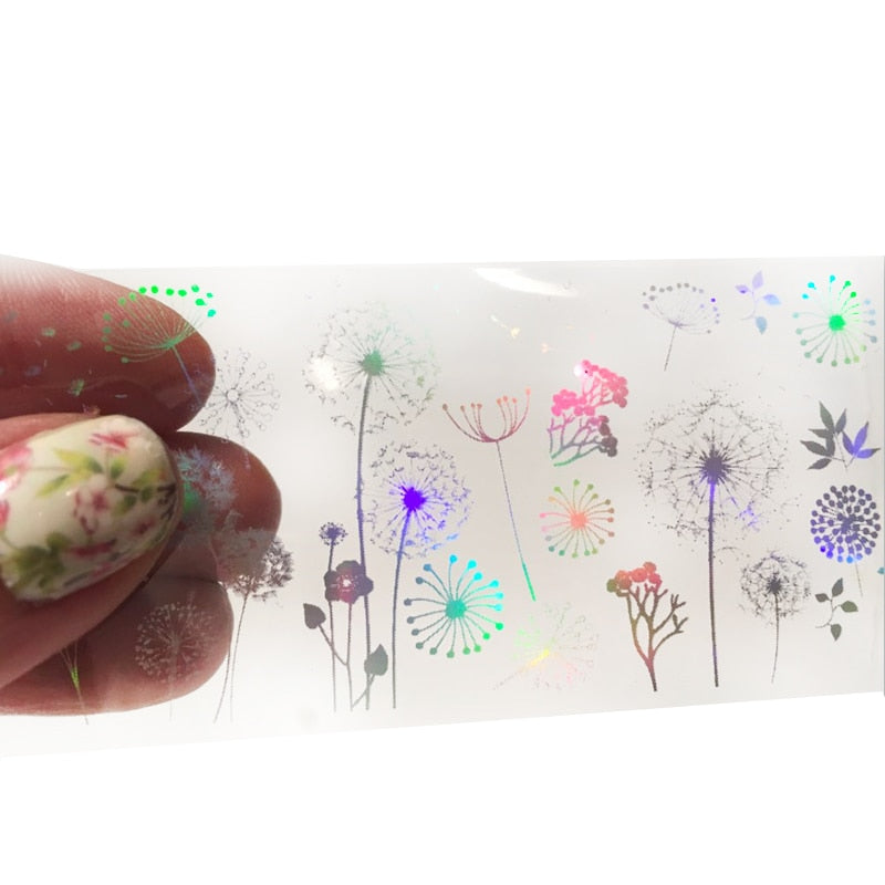 Holographic Foil Nail Art Decals