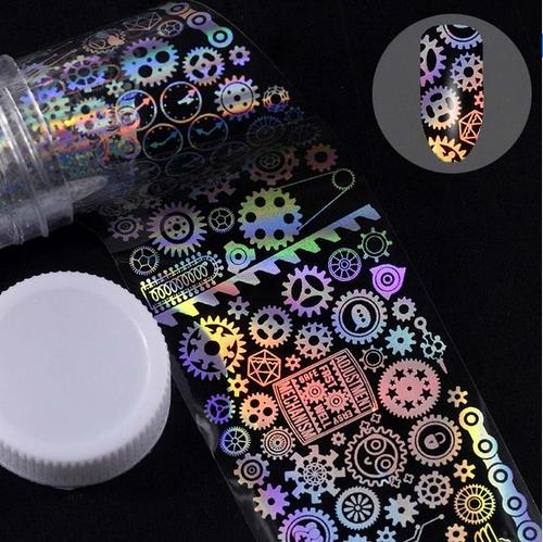 Holographic Foil Nail Art Decals JQ299