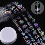 Holographic Foil Nail Art Decals JQ301