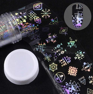 Holographic Foil Nail Art Decals JQ304