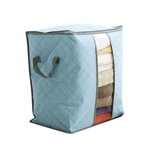 Bamboo Charcoal Clothes Storage Bag Blue