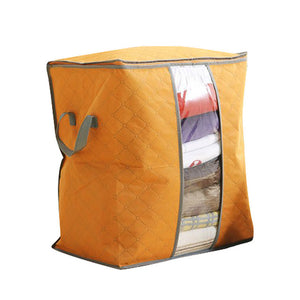 Bamboo Charcoal Clothes Storage Bag Orange