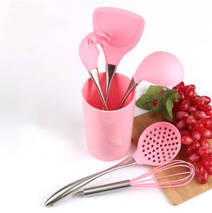Pink Stainless Steel Kitchen Utensils Accessories