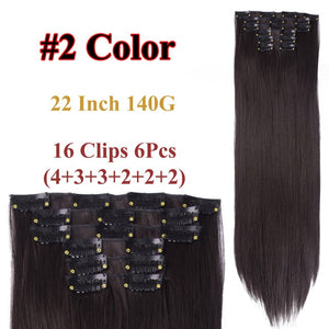 Clip In Hair Extensions Straight Synthetic 2 / 22inches