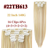 Clip In Hair Extensions Straight Synthetic 22H613 / 22inches