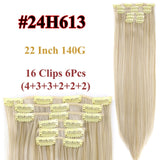 Clip In Hair Extensions Straight Synthetic 24H613 / 22inches