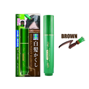 Natural Herb White Hair Cover Pen Brown