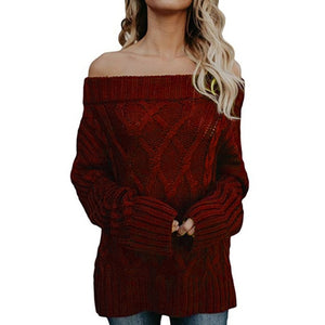 Warm winter Knitting Sweater Red / S