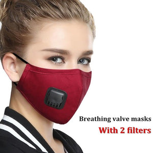 Military Grade Reusable Filter Mask Womens wine Red