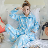 Thick flannel Winter Female Pajamas Color 9 / XL