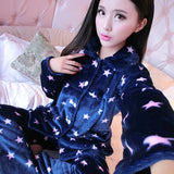 Thick flannel Winter Female Pajamas Color 14 / XL