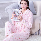Thick flannel Winter Female Pajamas Color 23 / XL