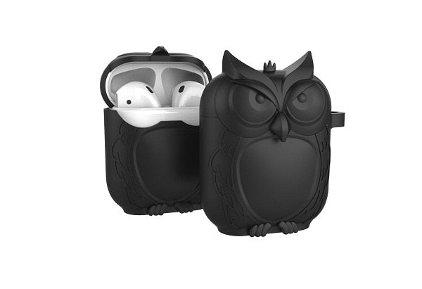 Owl Shape Silicone Shockproof Earphone Case